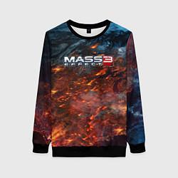 Свитшот женский Mass Effect 3: War цвета 3D-черный — фото 1