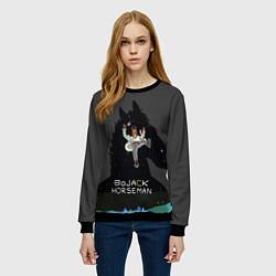 Свитшот женский Bojack Horseman цвета 3D-черный — фото 2