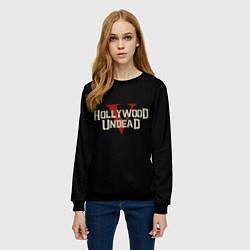 Свитшот женский Hollywood Undead V цвета 3D-черный — фото 2