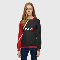 Свитшот женский N7 Space цвета 3D-красный — фото 2