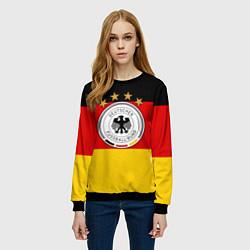 Свитшот женский Немецкий футбол цвета 3D-черный — фото 2