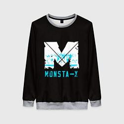 Свитшот женский MONSTA X цвета 3D-меланж — фото 1
