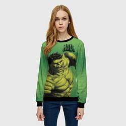 Свитшот женский Hulk цвета 3D-черный — фото 2