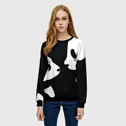 Свитшот женский Panda цвета 3D-черный — фото 2