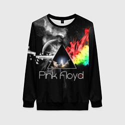 Свитшот женский Pink Floyd цвета 3D-черный — фото 1