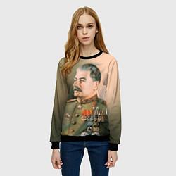 Свитшот женский Иосиф Сталин цвета 3D-черный — фото 2
