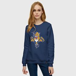 Свитшот хлопковый женский Florida Panthers цвета тёмно-синий — фото 2