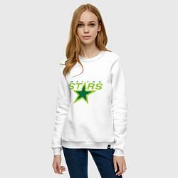 Свитшот хлопковый женский Dallas Stars цвета белый — фото 2