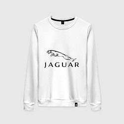 Свитшот хлопковый женский Jaguar цвета белый — фото 1