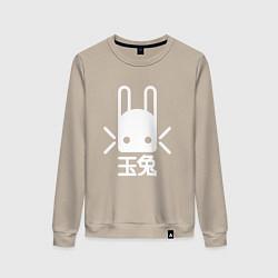 Свитшот хлопковый женский Destiny Rabbit цвета миндальный — фото 1