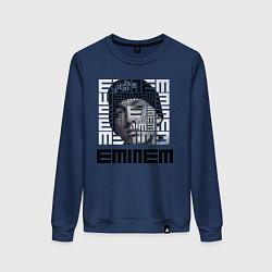 Свитшот хлопковый женский Eminem labyrinth цвета тёмно-синий — фото 1