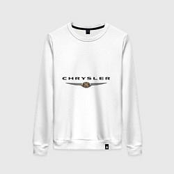 Свитшот хлопковый женский Chrysler logo цвета белый — фото 1