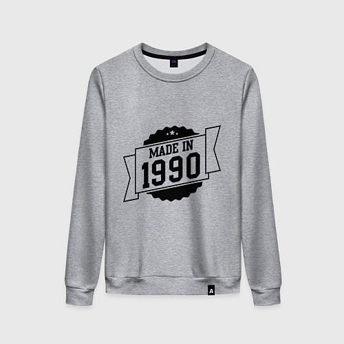 Женский свитшот Made in 1990 / Меланж – фото 1