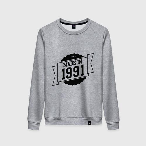 Женский свитшот Made in 1991 / Меланж – фото 1