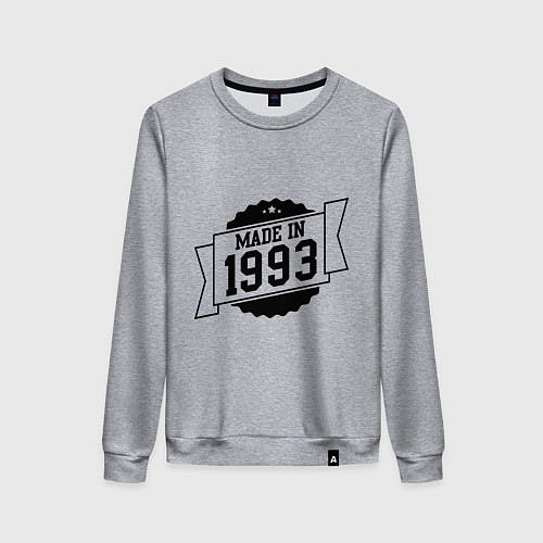 Женский свитшот Made in 1993 / Меланж – фото 1