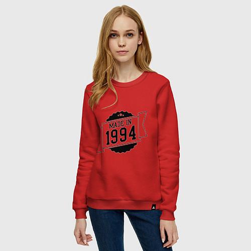 Женский свитшот Made in 1994 / Красный – фото 3