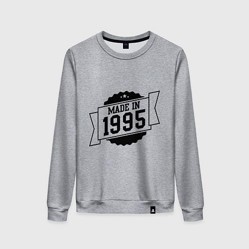 Женский свитшот Made in 1995 / Меланж – фото 1