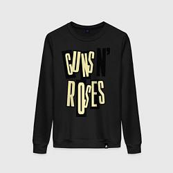Свитшот хлопковый женский Guns n Roses: cream цвета черный — фото 1