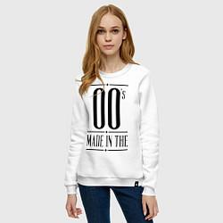 Свитшот хлопковый женский Made in the 00s цвета белый — фото 2