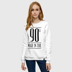 Свитшот хлопковый женский Made in the 90s цвета белый — фото 2