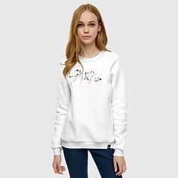 Свитшот хлопковый женский Stray Kids цвета белый — фото 2
