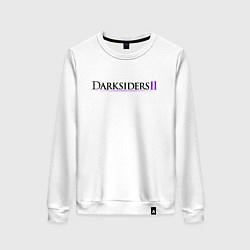 Свитшот хлопковый женский Darksiders 2 Logo Z цвета белый — фото 1
