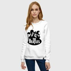 Свитшот хлопковый женский The Beatles Band цвета белый — фото 2
