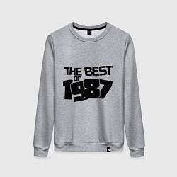 Свитшот хлопковый женский The best of 1987 цвета меланж — фото 1