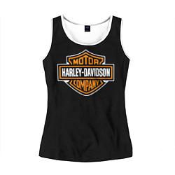 Майка-безрукавка женская Harley-Davidson: Motor Company цвета 3D-белый — фото 1