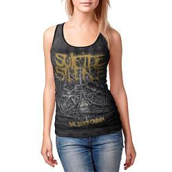 Майка-безрукавка женская Suicide Silence: The Black Crown цвета 3D-черный — фото 2