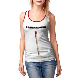 Майка-безрукавка женская Rammstein Radio цвета 3D-красный — фото 2