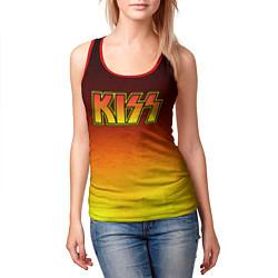 Майка-безрукавка женская KISS цвета 3D-красный — фото 2