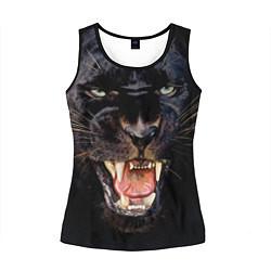 Майка-безрукавка женская Пантера цвета 3D-черный — фото 1