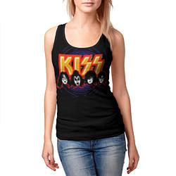 Майка-безрукавка женская KISS: Death Faces цвета 3D-черный — фото 2