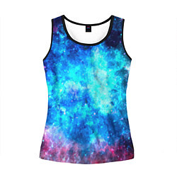 Майка-безрукавка женская Голубая вселенная цвета 3D-черный — фото 1