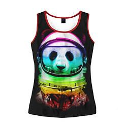 Майка-безрукавка женская Панда космонавт цвета 3D-красный — фото 1