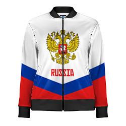 Олимпийка женская Russia Hockey Team цвета 3D-черный — фото 1