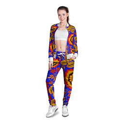 Олимпийка женская Хохломской узор цвета 3D-белый — фото 2