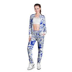 Олимпийка женская Гжель 2 цвета 3D-белый — фото 2