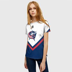 Футболка женская NHL: Columbus Blue Jackets цвета 3D — фото 2