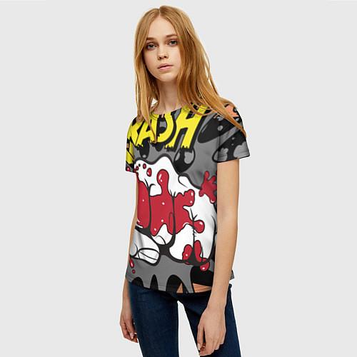 Женская футболка Удар / 3D – фото 3