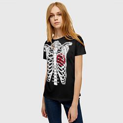 Футболка женская Кукрыниксы: Скелет цвета 3D-принт — фото 2