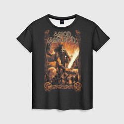 Футболка женская Amon Amarth: Dark warrior цвета 3D — фото 1