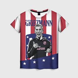Футболка женская Griezmann: Atletico Star цвета 3D — фото 1