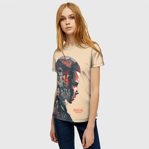 Женская футболка Stranger Things / 3D – фото 3