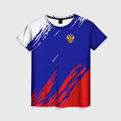 Футболка женская RUSSIA SPORT цвета 3D — фото 1