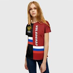 Футболка женская Volgograd, Russia цвета 3D — фото 2