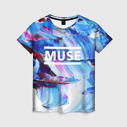 Футболка женская MUSE: Blue Colours цвета 3D — фото 1