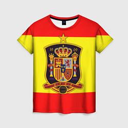 Футболка женская Сборная Испании цвета 3D — фото 1