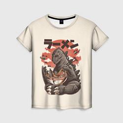 Футболка женская Godzilla Eat цвета 3D — фото 1